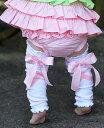 Ruffle Butts ピンク サテンリボン/レッグウォーマー 白(Pink Ballet Bow LegWarmers)★キッズ ベビー 女の子 足 防寒 おしゃれ かわいい ラッフルバッツ