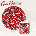 【本州送料無料 Cath Kidston キャスキッドソン 正規品 マグカップ+プレートセット,カモフラワー,食器