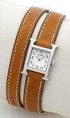 エルメス(HERMES) Hウォッチミニ ドゥブルトゥール HH1.110.131/VBA2 レディースサイズ[新品][時計][腕時計][0601楽天カード分割]