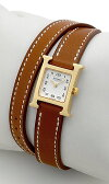 エルメス(HERMES) Hウォッチミニ ドゥブルトゥール HH1.101.131/VBA2 レディースサイズ[新品][時計][腕時計]