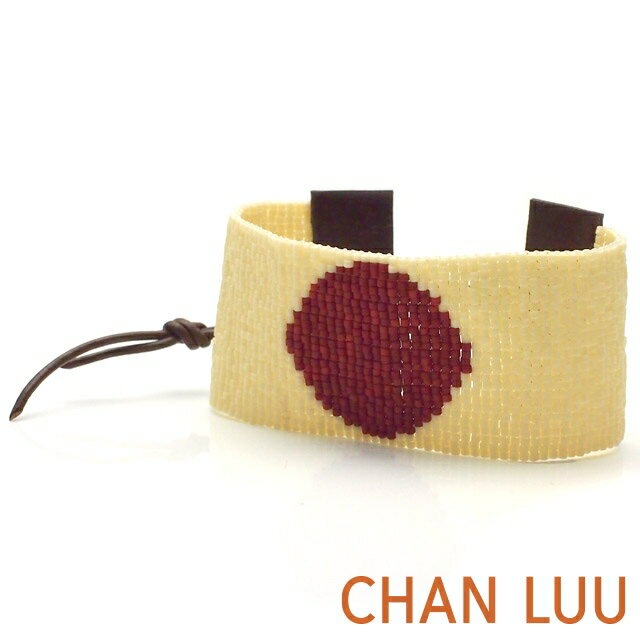 チャンルー【CHAN LUU】 チャンルー シングルラップ ブレスレット ホワイトMIX/ブラウン チャン・ルーCHAN LUU