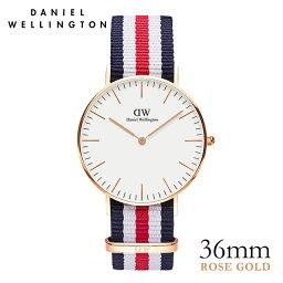 ダニエルウェリントン 36mm Daniel Wellington <strong>カンタベリー</strong> ローズ メンズ レディース 腕時計