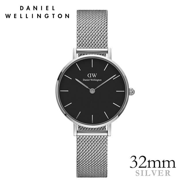 ダニエルウェリントン 32mm Daniel Wellington クラシックブラックペティット スターリング シルバー 腕時計