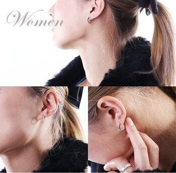 VelvetLounge【ヴェルヴェットラウンジ】Edginghoopエッジングフープピアス/ホワイト/ダイヤモンド