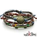 ワカミ【Wakami】「Earth Bracelet」 4 ストランド ウーマンズ