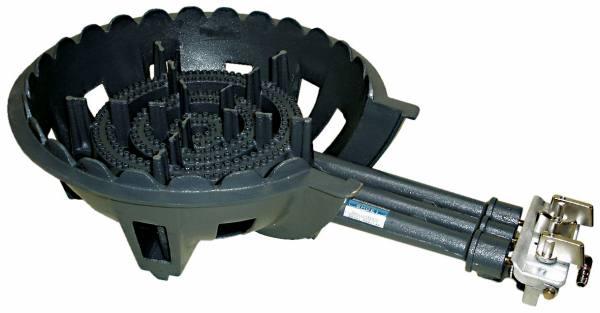 鋳物コンロ 三重 種火無し ガスバーナー(普及タイプ) 底枠付【SB301】(旧品番 C-36-1)(タチバナ TS-330 類似品)