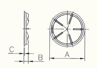丸形五徳(ゴトク)直径180mm【GTK180】の紹介画像2