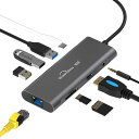 USB Type-Cハブ 9ポート to LAN端子 変換アダプター USB3.0 4K プロジェクター ディスプレイ モニター ルーター 高速USB