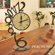 オブジェのような芸術的フォルム!イタリア製デザイナーズ置時計 アルティ・エ・メスティエリ社(ARTI&MESTIERI) PERC'NO(ペルケ ノー) 置時計 AM01729 送料無料