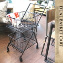 Dual basket cart(デュアルバスケットカート) S255-43 DULTON(ダルトン)送料無料