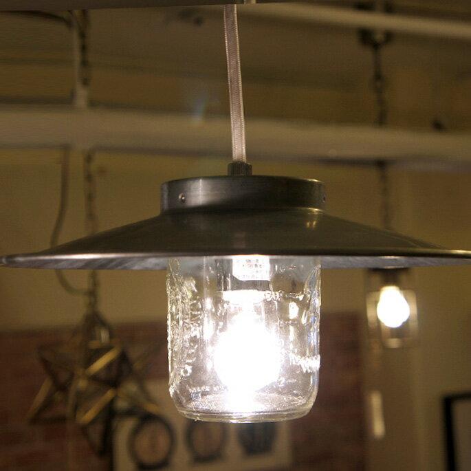 【Ball メイソンジャー】レトロ感満載のメイソンジャーペンダント♪ CANISTER LAMP(キャニスターランプ) GS-003 ハモサ(HERMOSA)BALL(ボール)社製ガラス瓶 あす楽対応 /Mason jar アメリカ Ball社 正規品 ガラス 保存ビン 照明