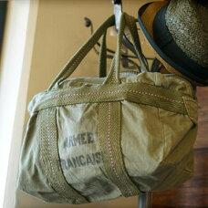 FRENCH Military Parachute Bag Small Logo (フランス軍タイプパラシュートバッグスモールロゴ)全2色(オリーブ・カーキ)