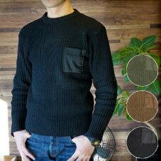 U.S Military Command Sweater Acrylic Pocket (アメリカ軍タイプ コマンドセーターアクリルPK付)全3色(オリーブ・ブラック・コヨーテブラウン)・4サイズ(S・M・L・XL)