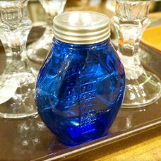 チェコ ガラス瓶 ブルー(Czech Glass Bottle Blue) デッドストック(DEADSTOCK)
