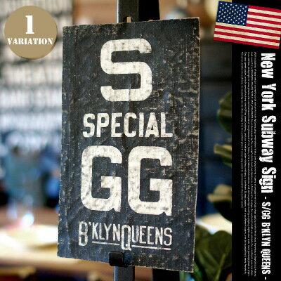 バスロールサイン:ニューヨークサブウェイサイン(NEWYORK SUBWAY SIGN) S/GG B'KLYN QUEENS