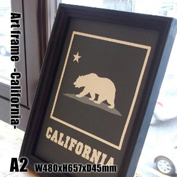 Art Frame California(アートフレーム カリフォルニア) A2 size 黒フレーム TR-4198(CA) ARTWORKSTUDIO(アートワークスタジオ) 送料無料 ArtFrameCalifornia アートフレームカリフォルニア TR-4198(CA) アートワークスタジオ ARTWORKSTUDIO おしゃれなサインポスター レトロビンテージアート