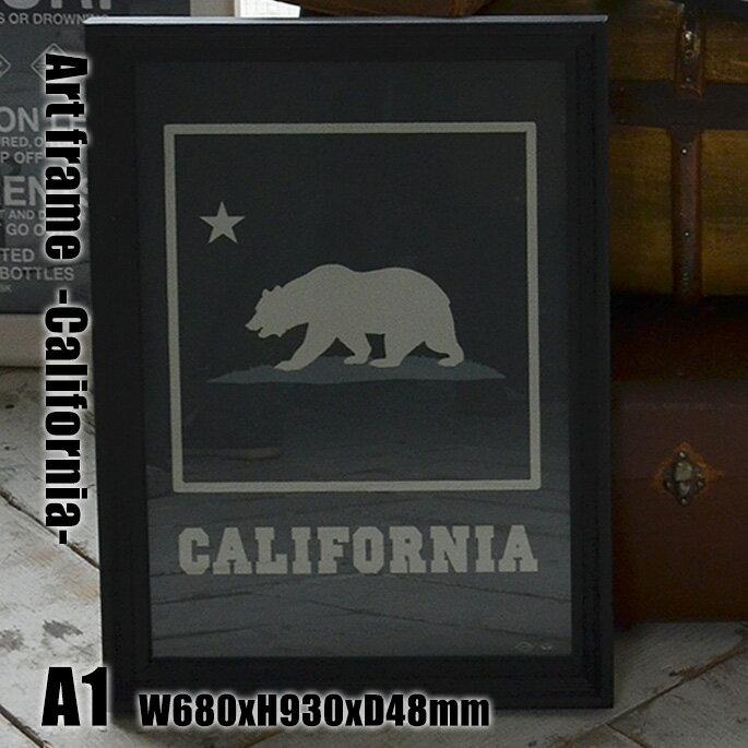 Art Frame California(アートフレーム カリフォルニア) A1 size 黒フレーム TR-4199(CA) ARTWORKSTUDIO(アートワークスタジオ) 送料無料 ArtFrameCalifornia アートフレームカリフォルニア TR-4199(CA) アートワークスタジオ ARTWORKSTUDIO おしゃれなサインポスター レトロビンテージアート