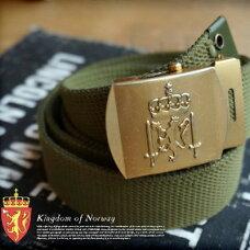 ノルウェー軍キャンバスベルト(Norway militaly canvas belt)DEAD STOCK(デッドストック)