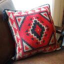 TASSELED Cushion Cover(タッセルクッションカバー)EL PASO SADDLEBLANKET Co.(エルパソサドルブランケット) Deep Red(ディープレッド)