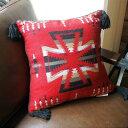 TASSELED Cushion Cover(タッセルクッションカバー)EL PASO SADDLEBLANKET Co.(エルパソサドルブランケット) Red(レッド)