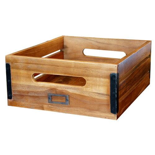 収納ボックス ストレージボックス オールドチークボックス M OLD TEAK BOX L ビメイクス BIMAKES チーク古材 アイアン 木製 完成品 収納箱 収納家具 収納用品 引き出し ヴィンテージ インダストリアル おしゃれ