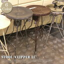 Stool Clipper 2(スツール クリッパー) 100-253 DULTON(ダルトン) カラー(クローム/アイボリー/レッド/ハンマートーングレー/ブラウン/ロウ)