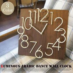 暗闇で光るオシャレな壁掛け時計♪ 夜光アラビックダンスウォールクロック(Arabic Dance Wall Clock) IDEA LABEL(イデアレーベル) 掛時計 LCW086 全2色(BR/MRR)