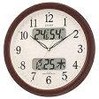リズム時計 電波掛け時計 「ネムリーナカレンダー」 4FYA01-006[4FYA01006]