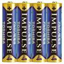 【あす楽対象】 東芝 【単4形】 4本 アルカリ乾電池 「IMPULSE」LR03H 4KP[LR03H4KP]