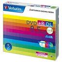 三菱化学メディア 2.4〜8倍速対応 データ用DVD+R DLメディア (8.5GB・5枚) DTR85HP5V1