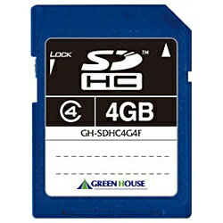 グリーンハウス GREEN HOUSE 4GB・Class4対応SDHCカード GH-SDHC4G4F[GHSDHC4G4F]