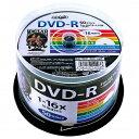 【あす楽対象】 磁気研究所 1-16倍速対応 データ用DVD-Rメディア(4.7GB・50枚)HDDR47JNP50