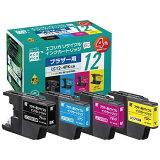 エコリカ【互換】[ブラザー:LC124PK(4色)対応]エコリサイクルインクカートリッジ4色パック ECI-BR124P/BOX [ECIBR124PBOX]