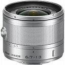 【送料無料】 ニコン 交換レンズ 1 Nikkor VR 6.7-13mm f/3.5-5.6【ニコン1マウント】(シルバー)[1NVR6.713SL]