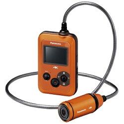 【2014年06月12日発売】【送料無料】パナソニックマイクロSD対応3.0m防水・防塵対応4Kウェアラブルカメラ(オレンジ)HX-A500-D[HXA500D]