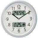 リズム時計 電波掛け時計 「ネムリーナカレンダー」 4FYA01-019[4FYA01019]