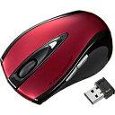 サンワサプライ ワイヤレスレーザーマウス[2.4GHz・USB] 超小型レシーバー (5ボタン・レッド) MA-NANOLS12R[MANANOLS12R]