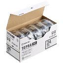 【送料無料】 キングジム KING JIM テプラ(TEPRA) 透明ラベルテープ (透明テープ/黒文字/24mm幅・5個パック) ST24K-5P
