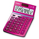 カシオ デザイン電卓 (12桁) JF-Z200PKN(ピンク)[JFZ200PKN]