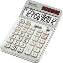 シャープ 実務電卓(ナイスサイズタイプ・12桁) EL-N942C-X [ELN942CX]