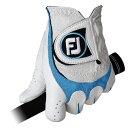 フットジョイ 【メンズ 左手用】ゴルフグローブ SCIFLEX(25cm/ホワイト×ブルー)FGSF13WB-25[FGSF13WB25]
