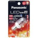 【あす楽対象】 パナソニック PANASONIC LDT1LE12C LED装飾電球 (装飾電球T形クリアタイプ・全光束20lm/電球色相当・口金E12) LDT1L-E12/C
