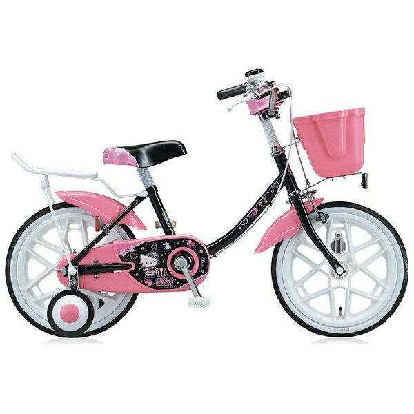 【送料無料】 ブリヂストン 16型 子供用自転車 ハローキティ ポップ(ブラック) KT16E3 【代金引換配送不可】