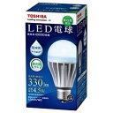 【あす楽対象】 東芝 調光器対応・防水形LED電球 (一般電球形[下方向タイプ]・全光束330lm/昼白色相当・口金E26) LDA5N/WD[LDA5NWD]