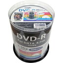 磁気研究所 Magnetic Laboratories 1-16倍速対応 データ用DVD-Rメディア(4.7GB・100枚) HDDR47JNP100
