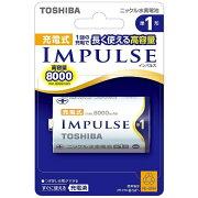 東芝 【単1形ニッケル水素充電池】 1本 「IMPULSE」TNH-1A[TNH1A]