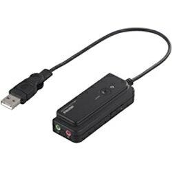 BUFFALO 0.2m USBオーディオ変換ケーブル 【A】⇔【φ3.5mm】(ブラック) BSHSAU01BK