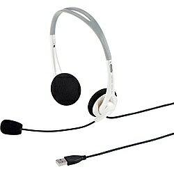 サンワサプライ ヘッドセット[USB] 両耳オーバーヘッドタイプ(ホワイト) MM-HSUSB16W[MMHSUSB16W]
