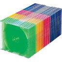 サンワサプライ CD/DVD/Blu-ray対応収納ケース (1枚収納×50セット・5色ミックス) FCD-PU50MX[FCDPU50MX]