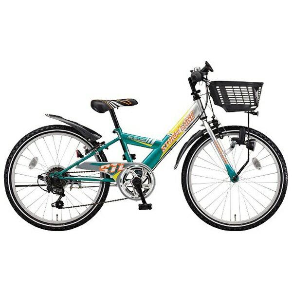 【送料無料】 ブリヂストン 20型 子供用自転車 ストームレーン(グリーン&シルバー/外装6段変速) STL064 【代金引換配送不可】